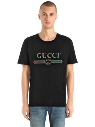 Gucci T-Shirt Logo schwarz