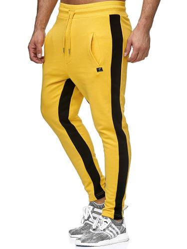 Jogginghose gelb Seitenstreifen