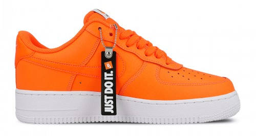 Nike Air Force 1 Leather Just Do it Pack orange