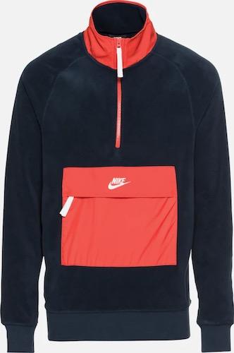 Nike NSW Fleecejacke rot blau