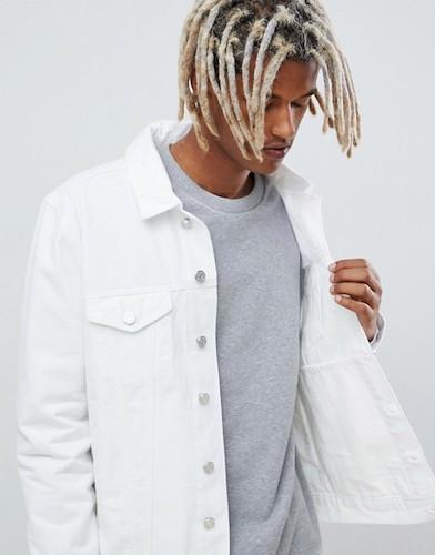 Jeansjacke weiß