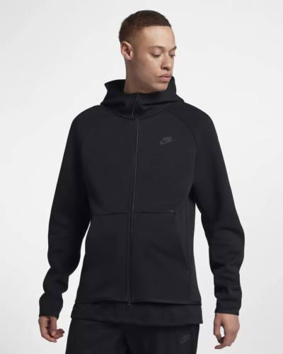 Nike Tech Fleece Zip Hoodie schwarz