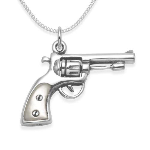 Pistolen Halskette silber Herren