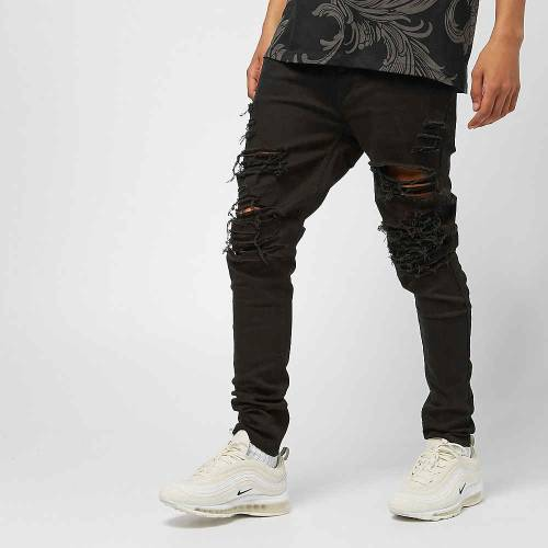 Ripped Jeans schwarz