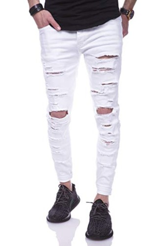 Ripped Jeans weiß