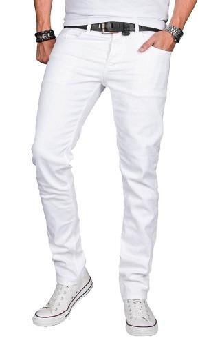 Slim Fit Jeans weiß