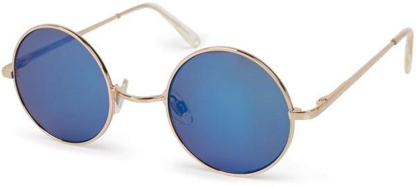 Sonnenbrille rund blaue Gläser