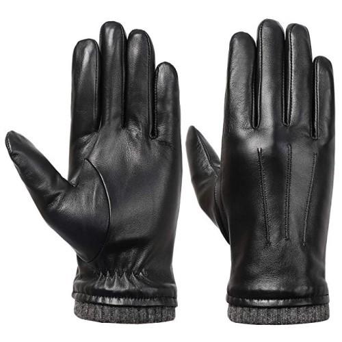 Acdyion Handschuhe Leder Touchscreen