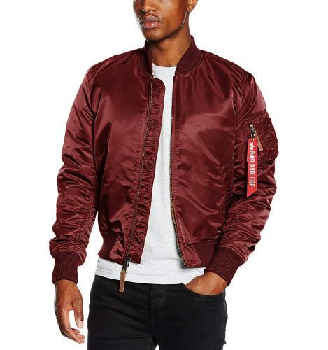 Alpha Industries Bomberjacke Burgundy