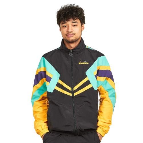 Diadora Trainingsjacke schwarz gelb