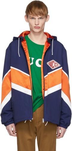 Gucci Jacke blau orange