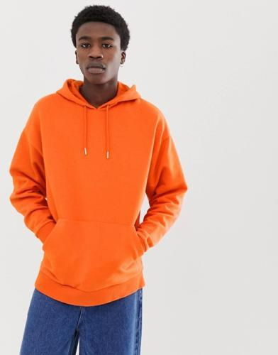Hoodie Basic Orange Oversized