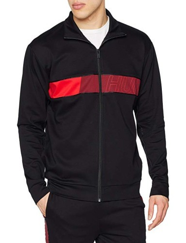 Hugo Trainingsjacke schwarz rot