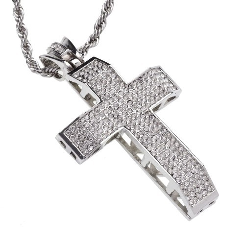 Iced Out Kette Kreuz