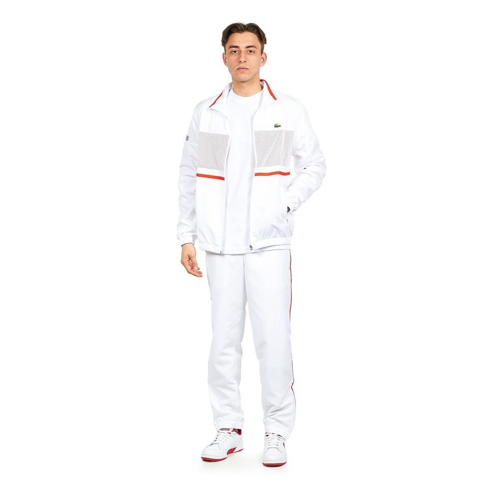 Lacoste Trainingsanzug weiß rot