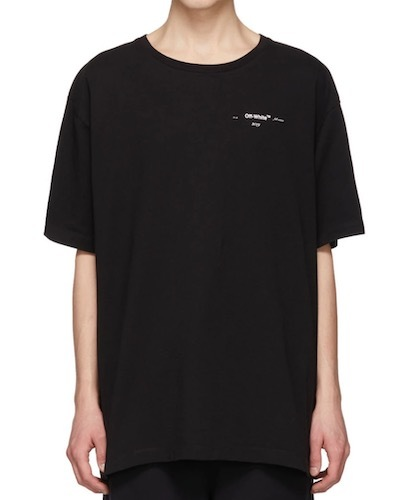 Off-White T-Shirt schwarz