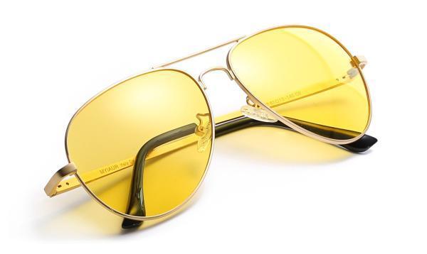 Pilotenbrille gelb Herren