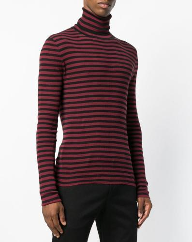 Saint Laurent Rollkragenpullover gestreift