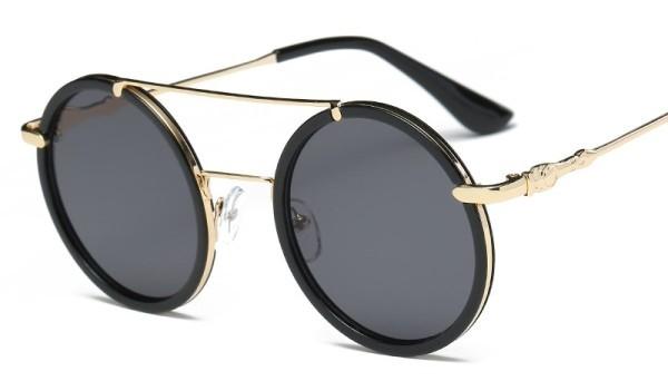 Sonnenbrille rund Doppelbrücke