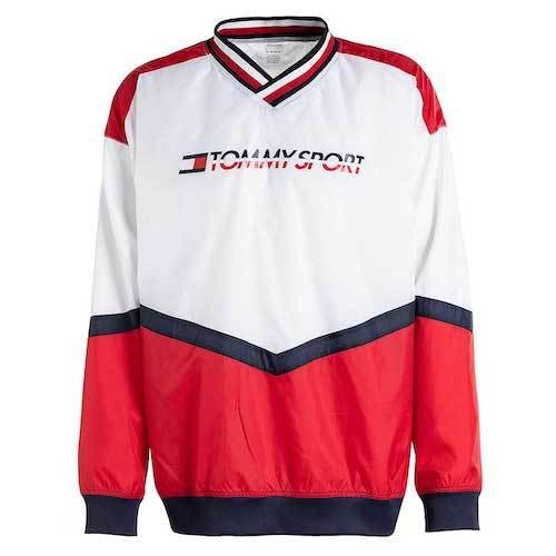 Tommy Sport Jacke rot weiß