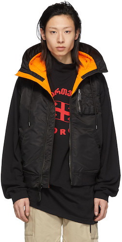 Ufo361 schwarz orangene Weste Jacke