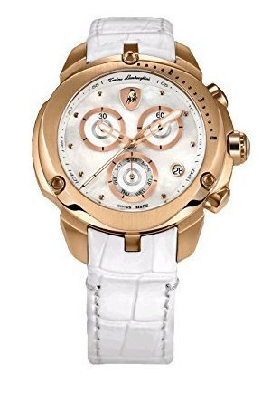 Eno Armbanduhr gold weiß