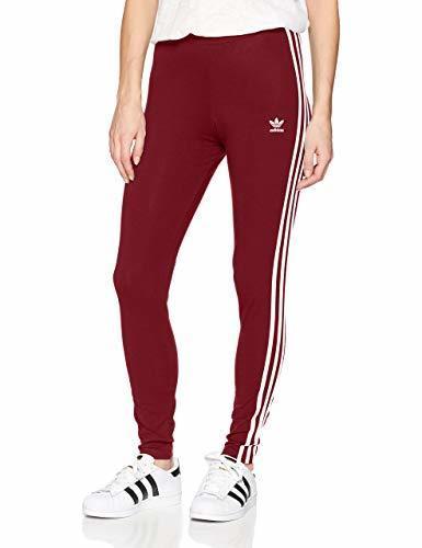 Adidas Damen Drei Streifen Leggings rot