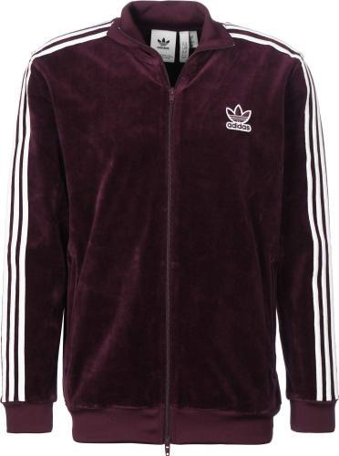 Adidas Velour Trainingsjacke Maroon
