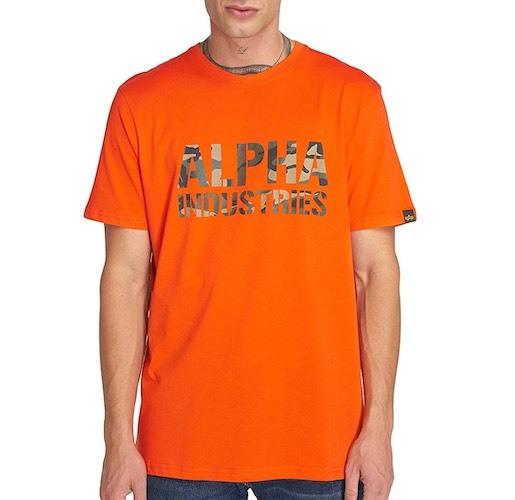 Alpha Industries T-Shirt orange camo print