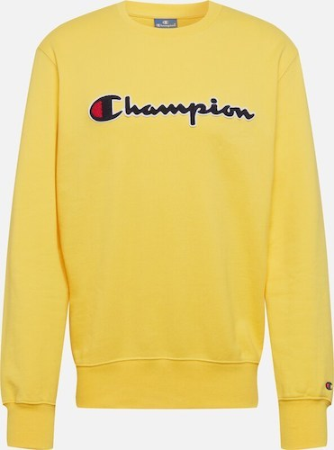 Champion gelber Sweater mit Logo