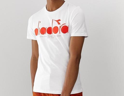 Diadora T-Shirt weiß rot