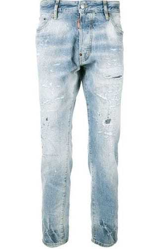 Ufo361 blaue Hose distressed