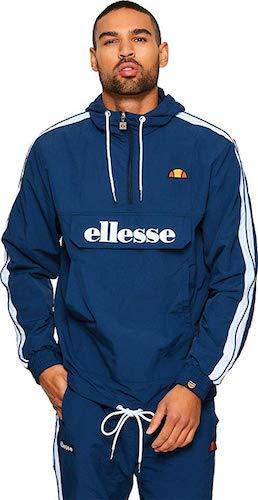ellesse Jacke Herren Fighter 1/2 Zip Track TOP Dunkelblau Navy