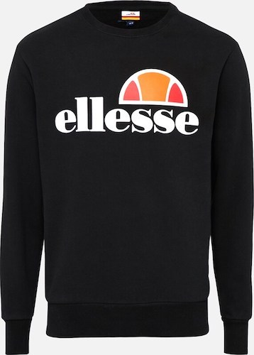 Ellesse Sweatshirt schwarz mit Logo Print