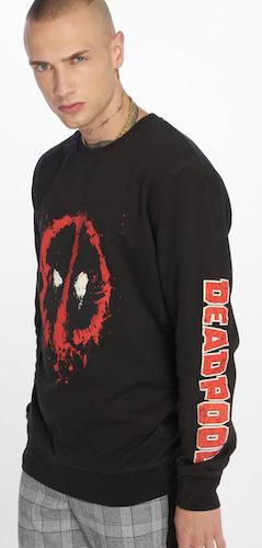 Fler Sweater schwarz mit Logo