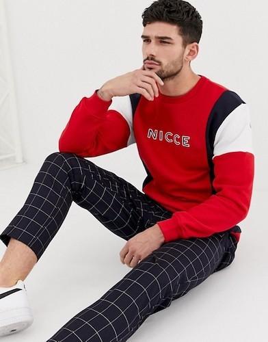Sido Wie Papa Sweatshirt rot grau schwarz