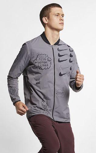 Maxwell Nike graue Jacke Perdano