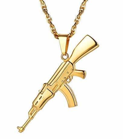 PROSTEEL Herren Halskette AK47