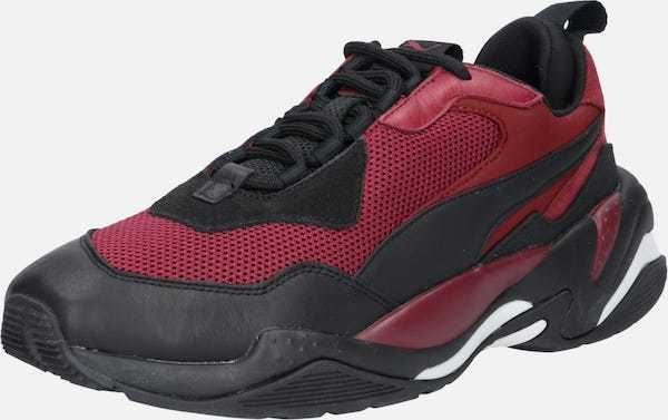 Ufo361 rote Sneaker weiß