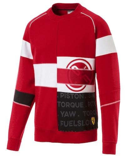 Eno Sweatshirt rot weiß