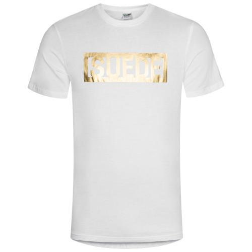 Puma Suede T-Shirt weiß gold