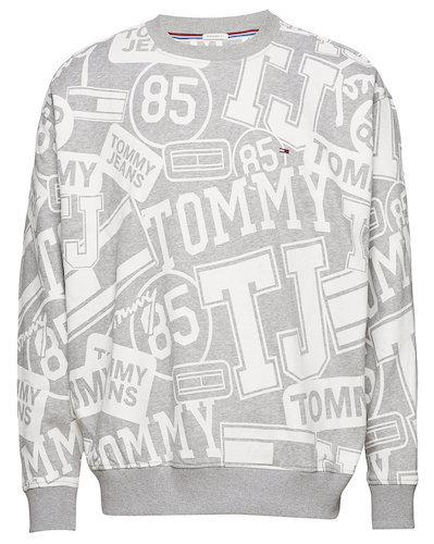 Tommy Jeans Sweater grau Logo print