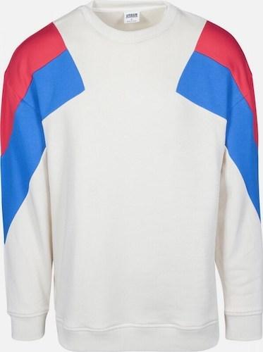 Urban Classics Sweater weiß blau rot