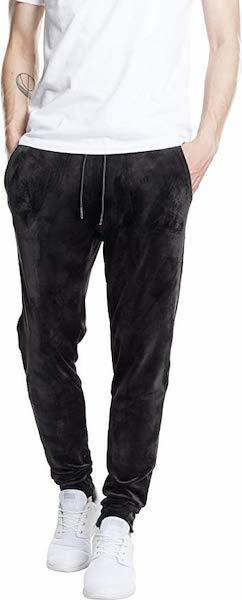 Shindy schwarze Velour Jogginghose