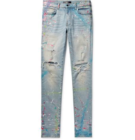 Amiri Jeans Paint Splatter Distressed