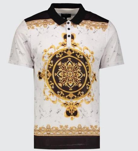 boohoo Poloshirt Barock Style