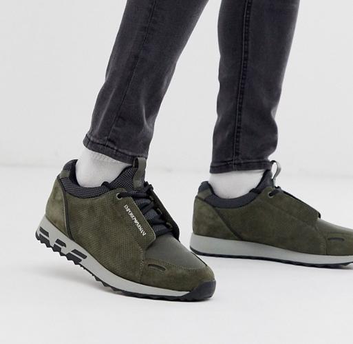Emporio Armani Arco Sneaker Khaki
