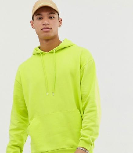 Oversized Hoodie neongelb