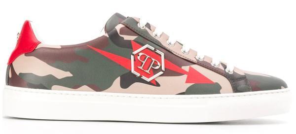 Philipp Plein Camouflage Sneaker
