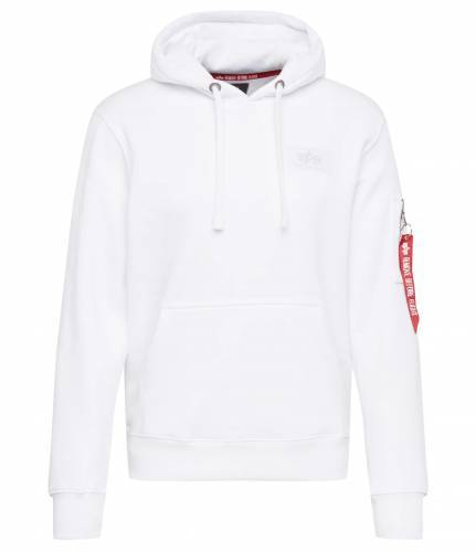 Alpha Industries Hoodie weiß Backprint
